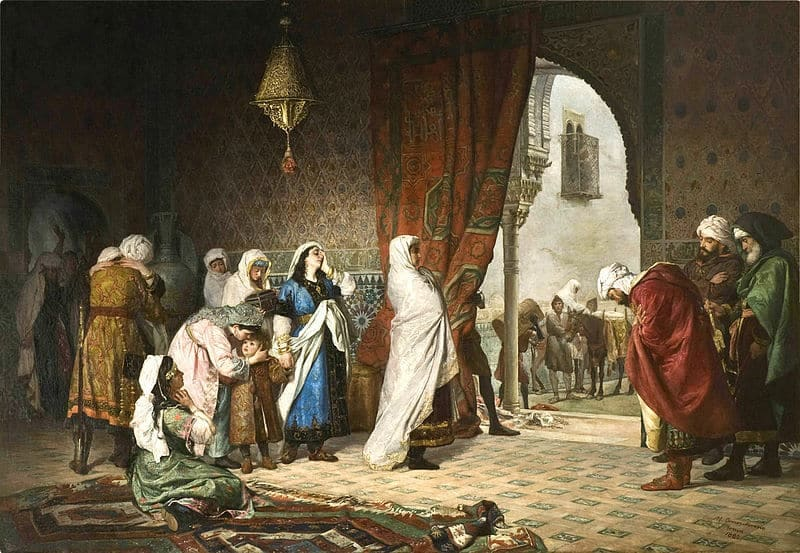 Boabdil's family in the Alhambra moments after the fall of Granada in 1492