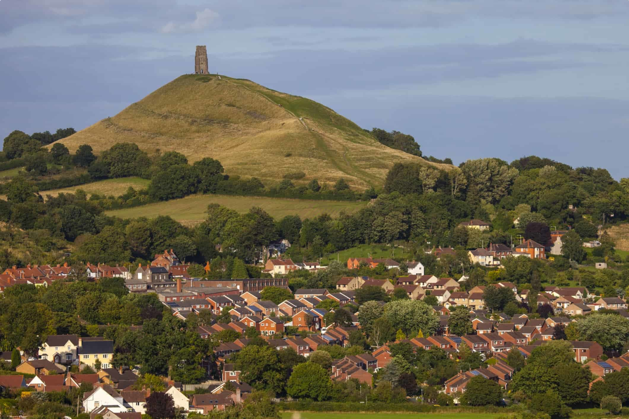 Glastonbury Tor in Somerset, UK