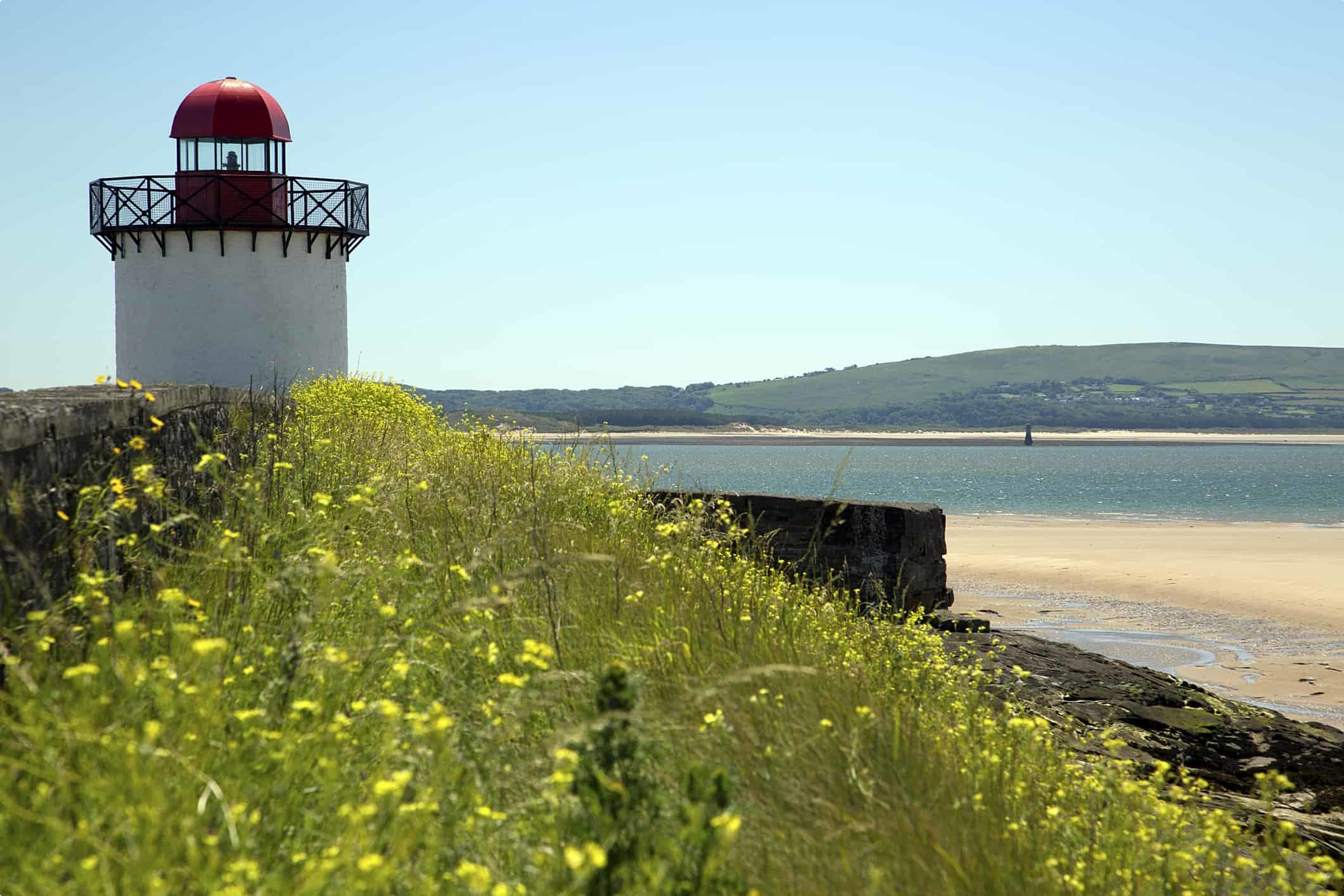 Burry Port Lighthouse and Whiteford Lighthouse, Llanelli, South Wales