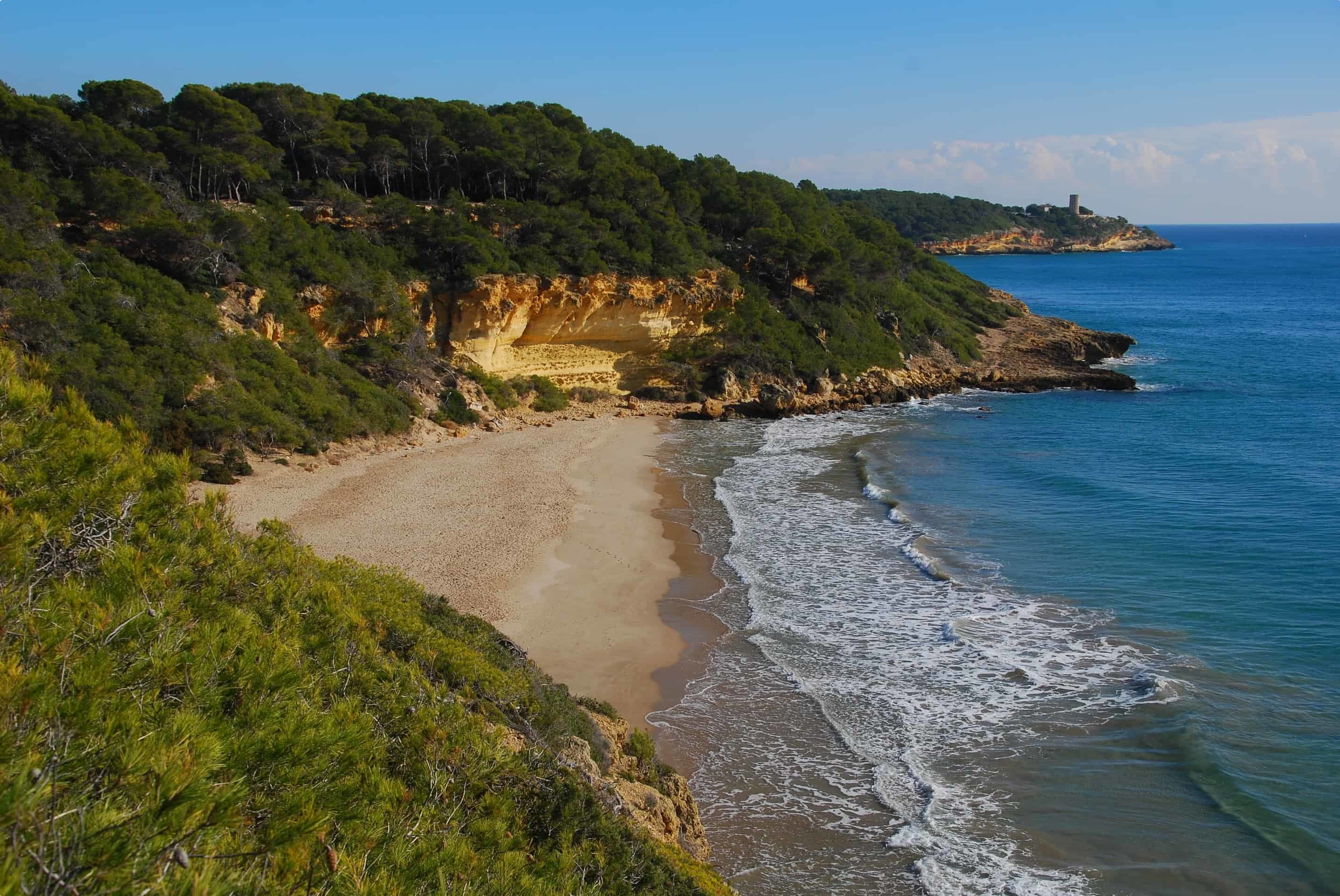 The secluded beach of Cala Fonda, near Tarragona