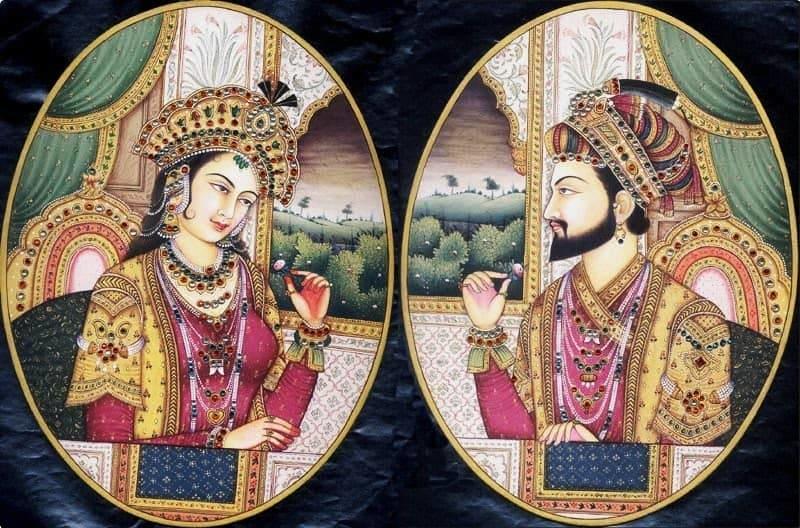 Emperor Shah Jahan and his beloved wife Mumtaz Mahal