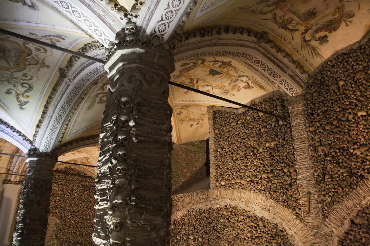 Inside Capela dos Ossos