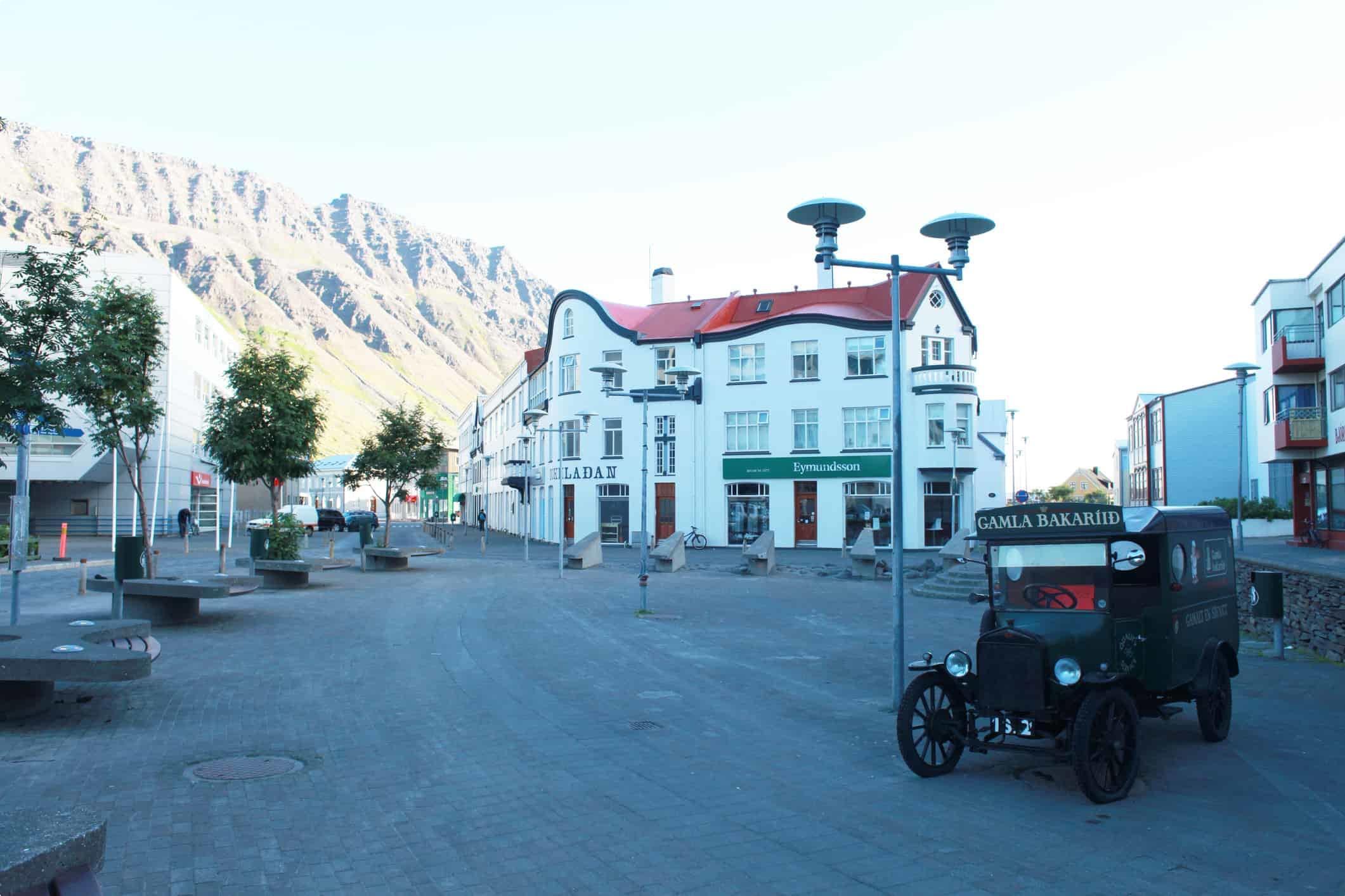 City centre of Isafjordur (Ísafjörður), Iceland