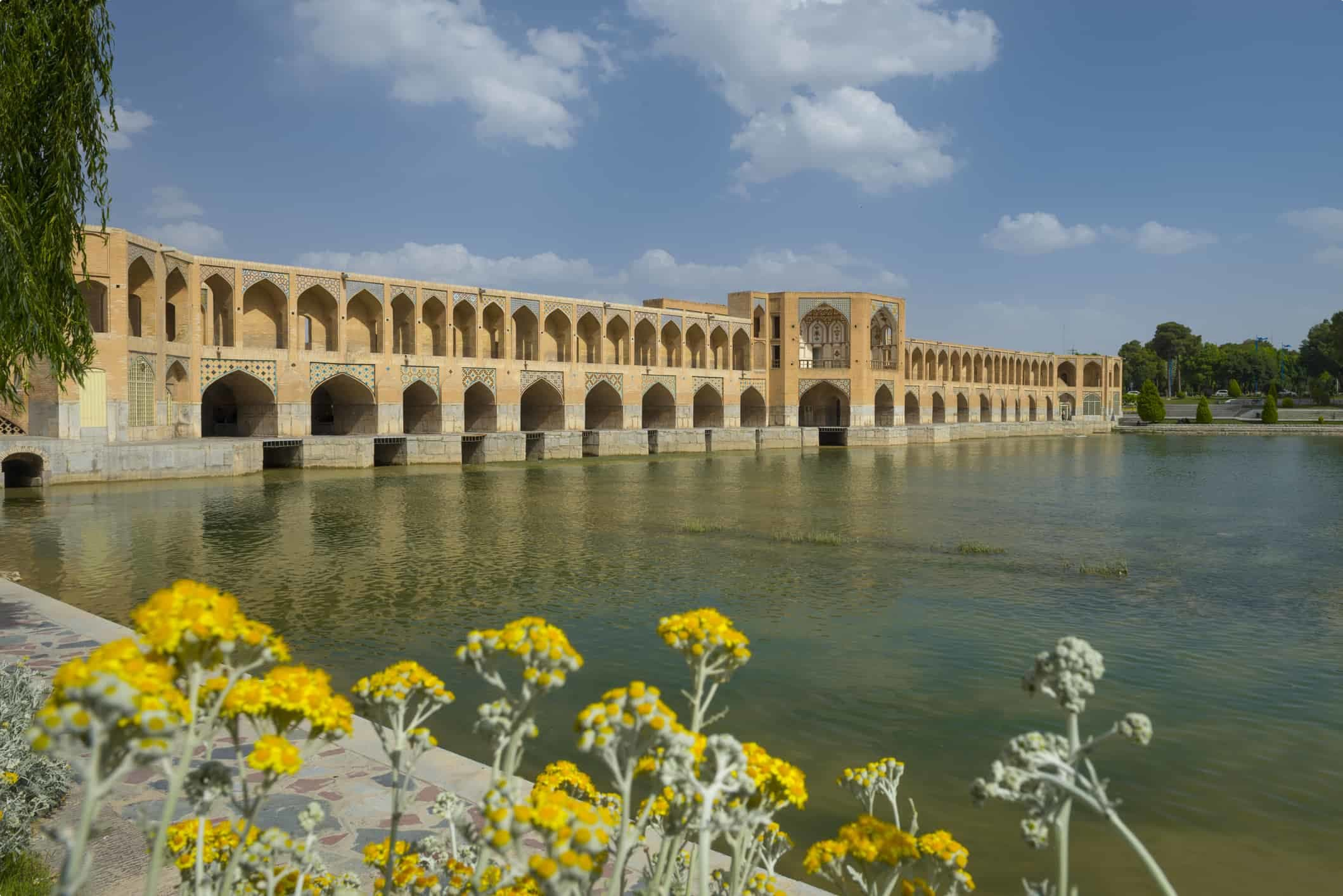 Khaju Bridge in Isfahan, Iran.