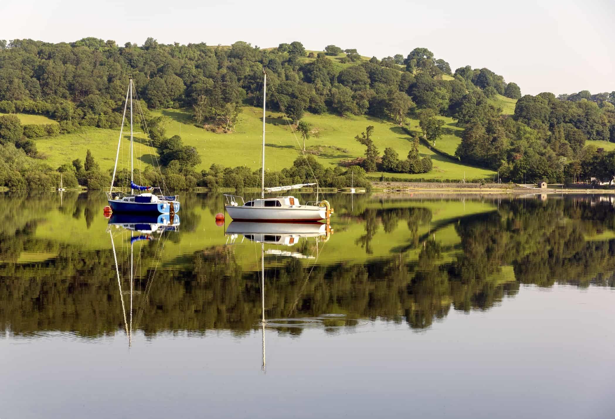 Yachts Lake Bala North Wales