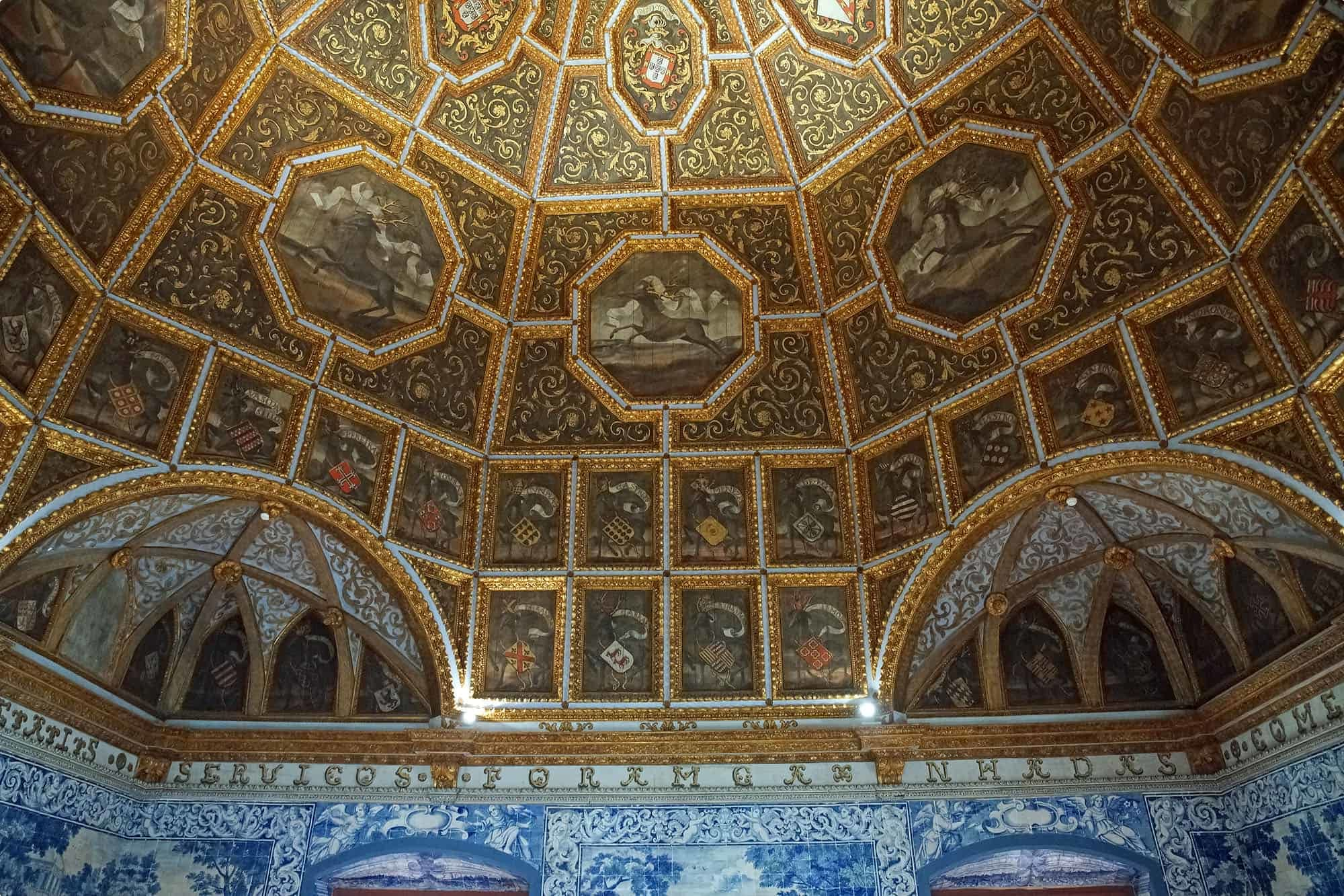The inside of the Palacio Nacional de Sintra (The National Palace of Sintra)