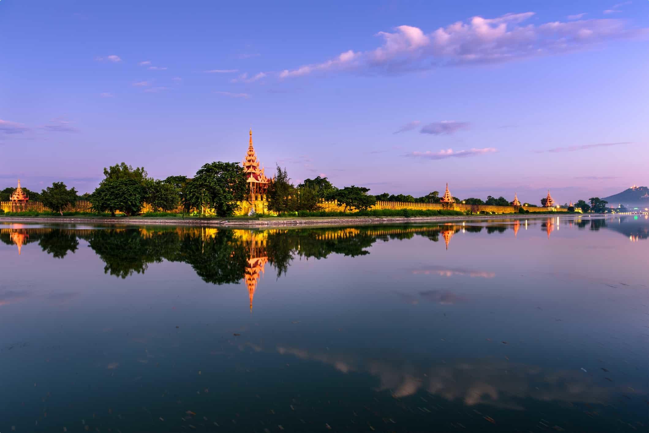 View of Mandalay Palace Myanmar