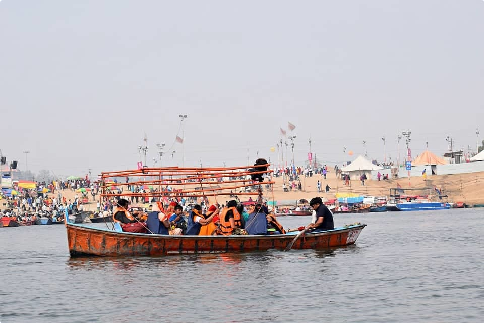 A boat on the Ganges