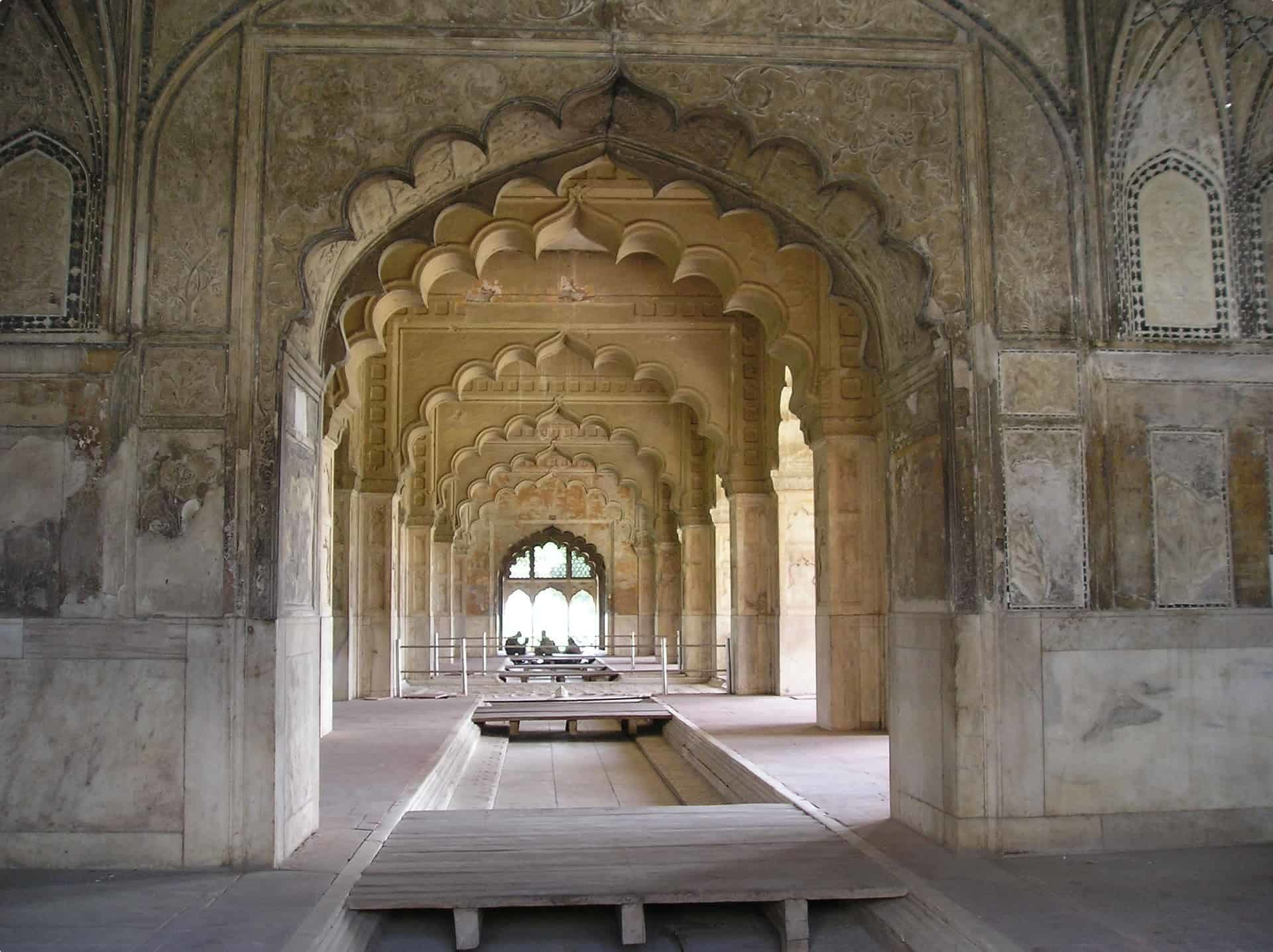 The inside of the Red Fort