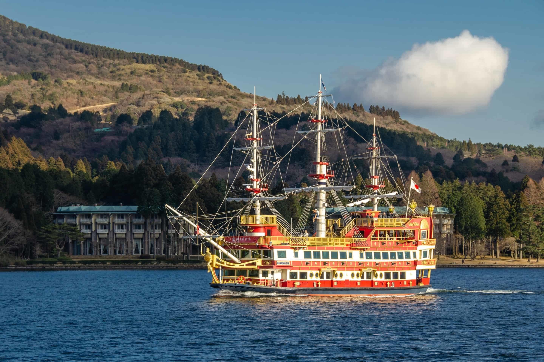 A pirate ship on Lake Ashi, Japan