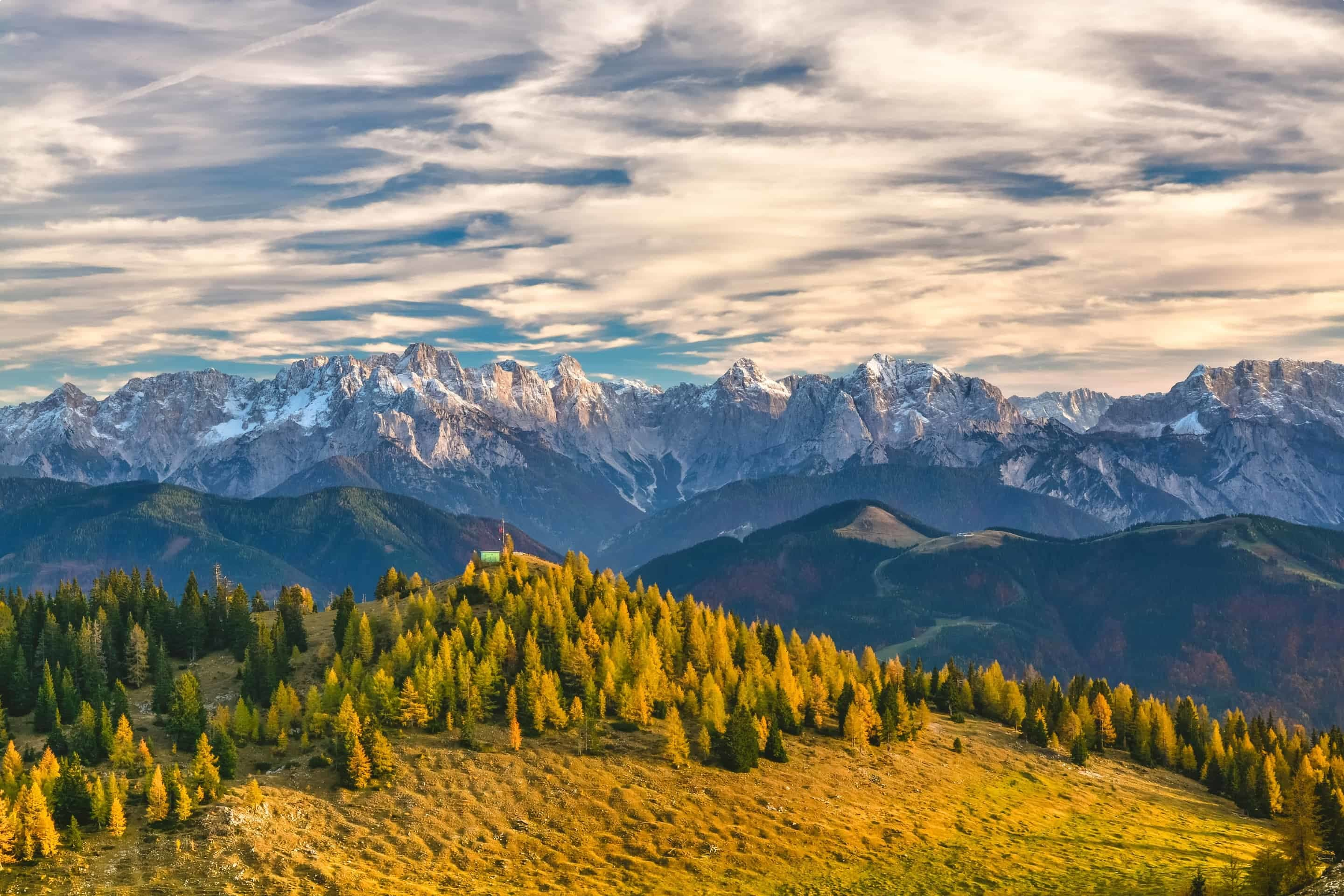 View of the Alps in Austria