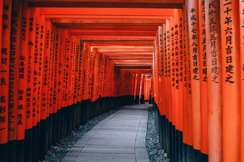 torii gates kyoto japan