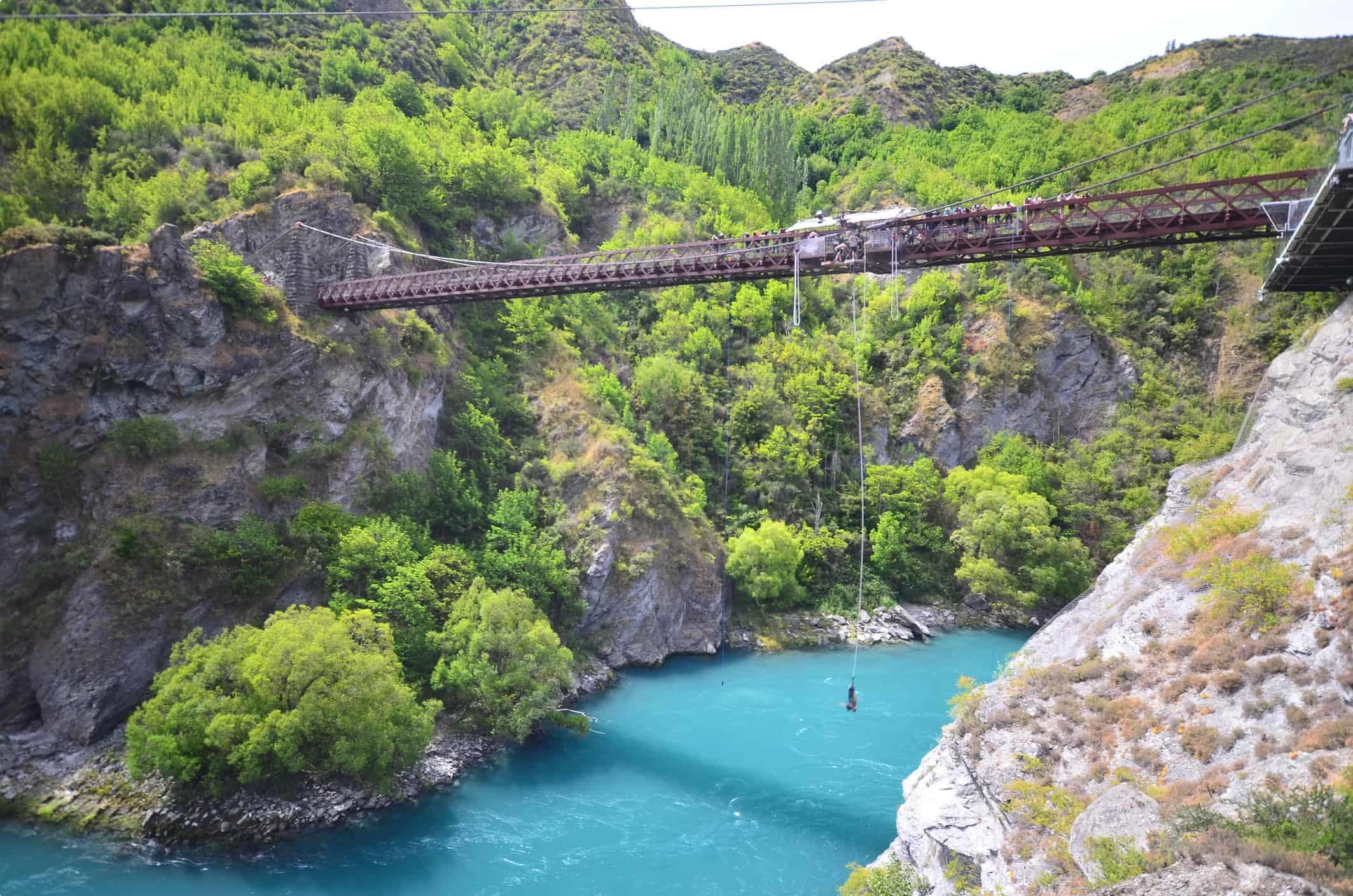 Bungee jumping at Kawarau Bridge, New Zealand