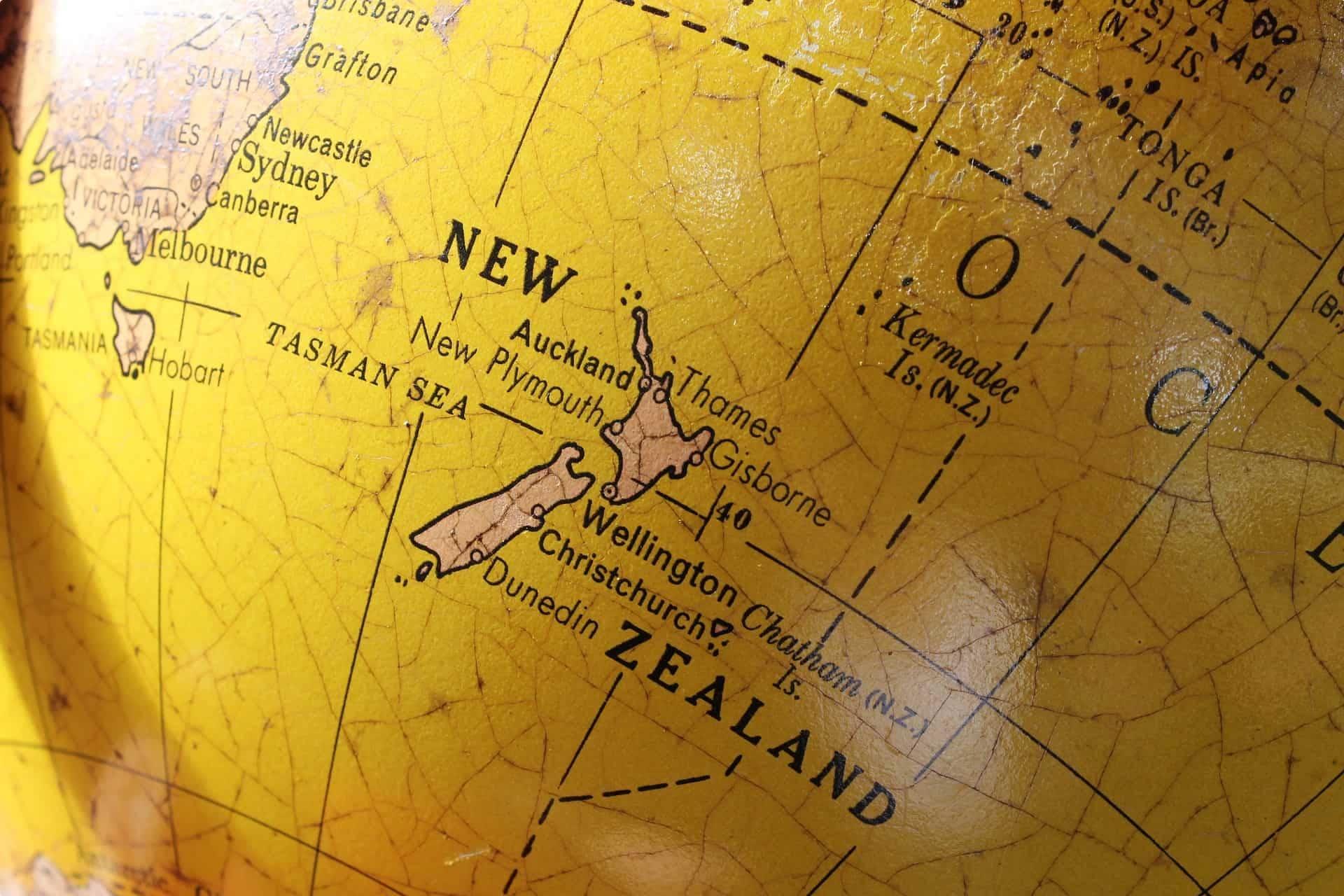 New Zealand world map