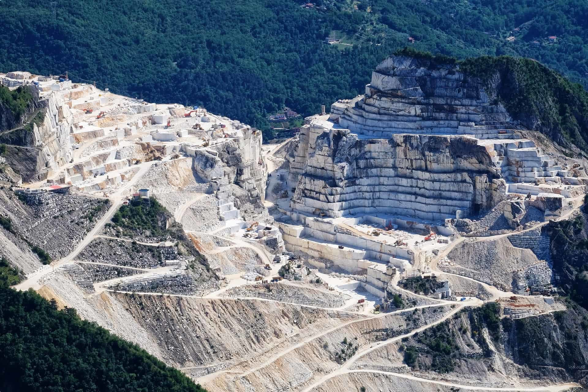 Carrara Marble quarry in Tuscany