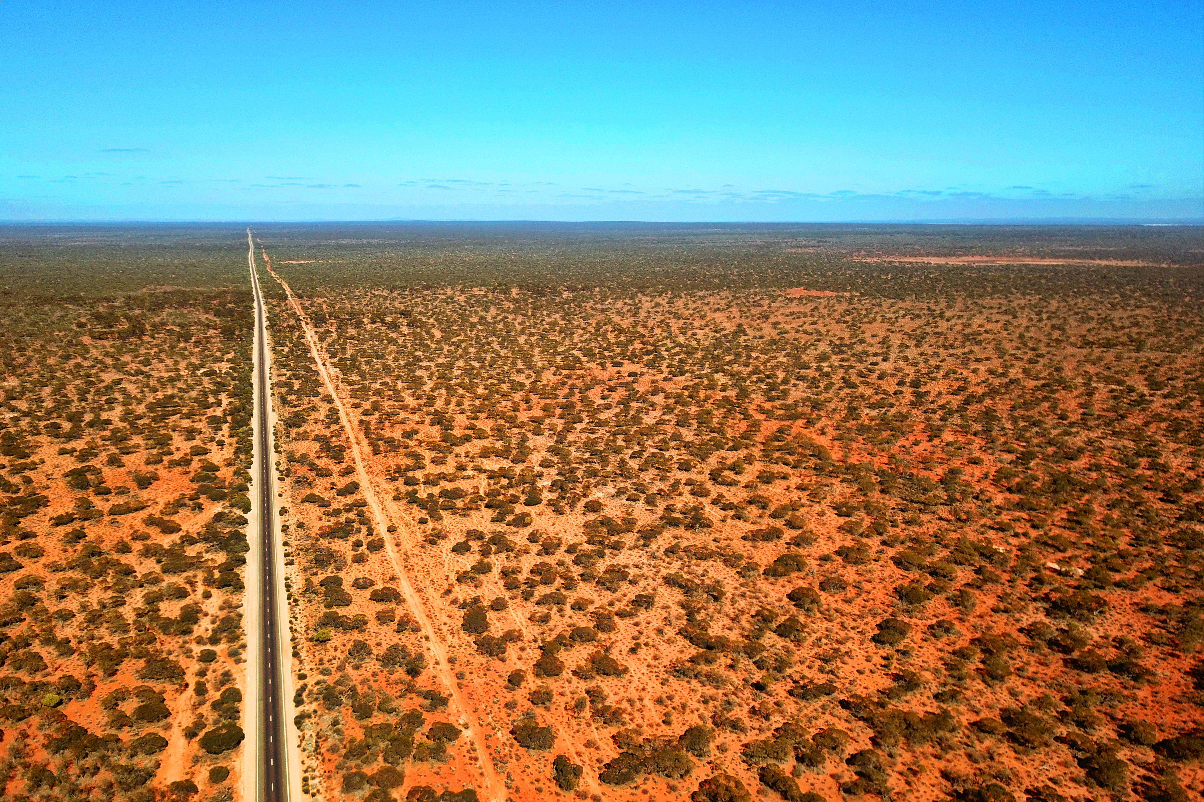 Australian red outback from the sky