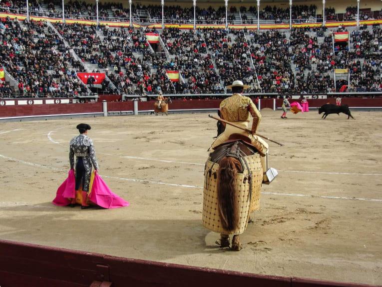 A bullfighting ring in Spain