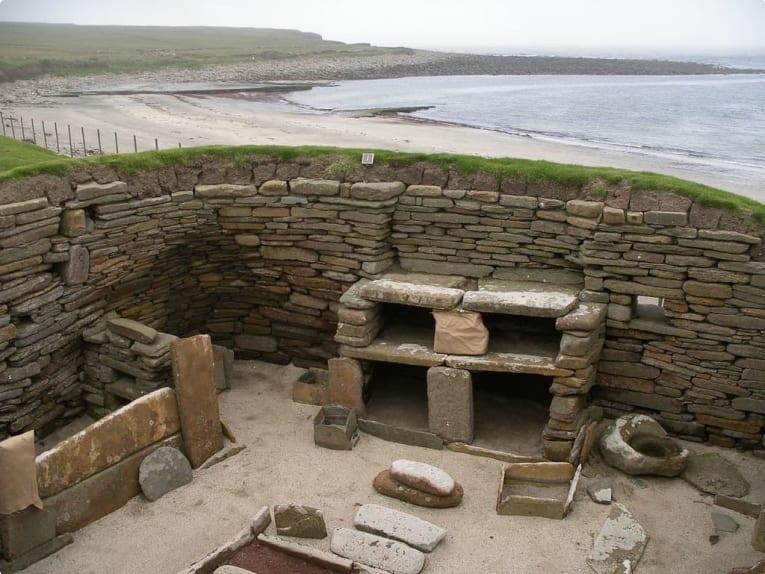 A house at Skara Brae, Orkney