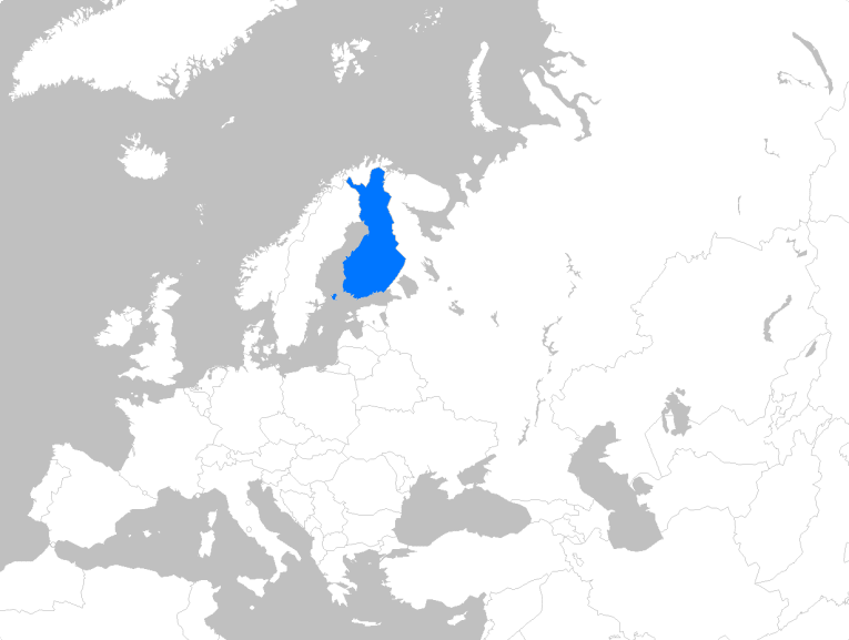 Finland's location in Europe