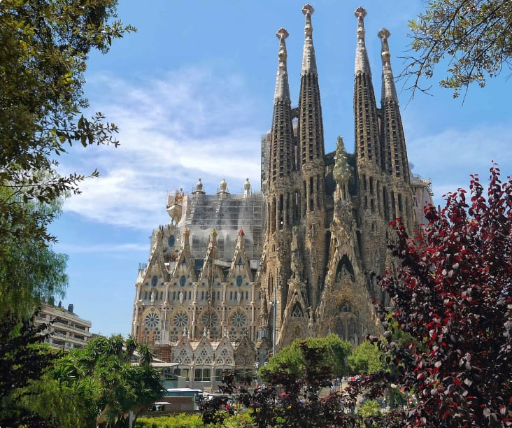 The Sagrada Familia, still under construction