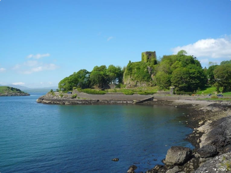 The ruins of Dunnollie Castle