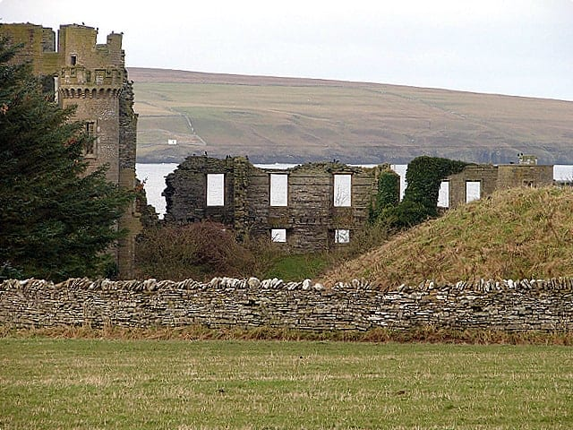 The ruins of Thurso Castle
