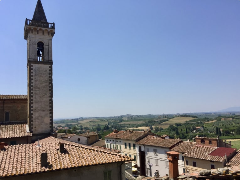 Clock Tower in Vinci tuscany