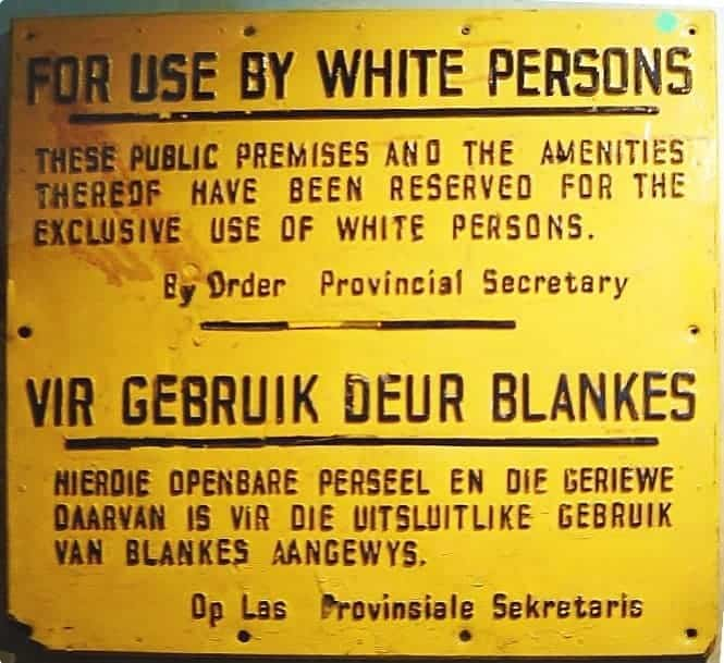 Apartheid Sign South Africa