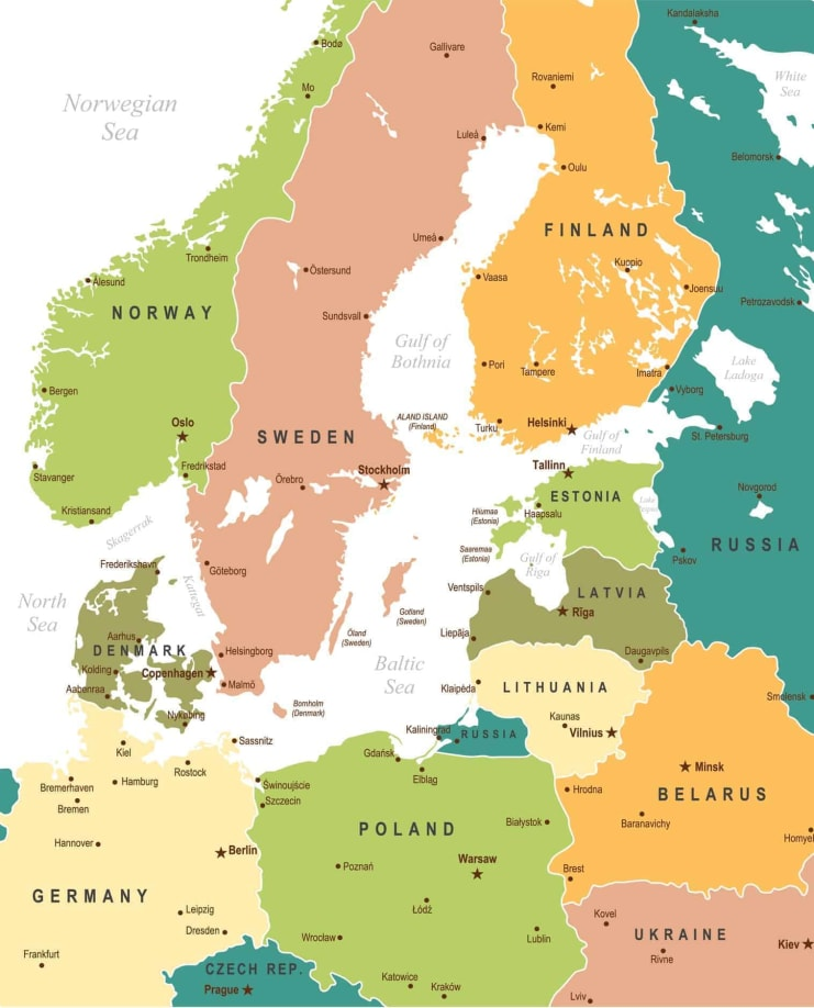 Baltic Sea map