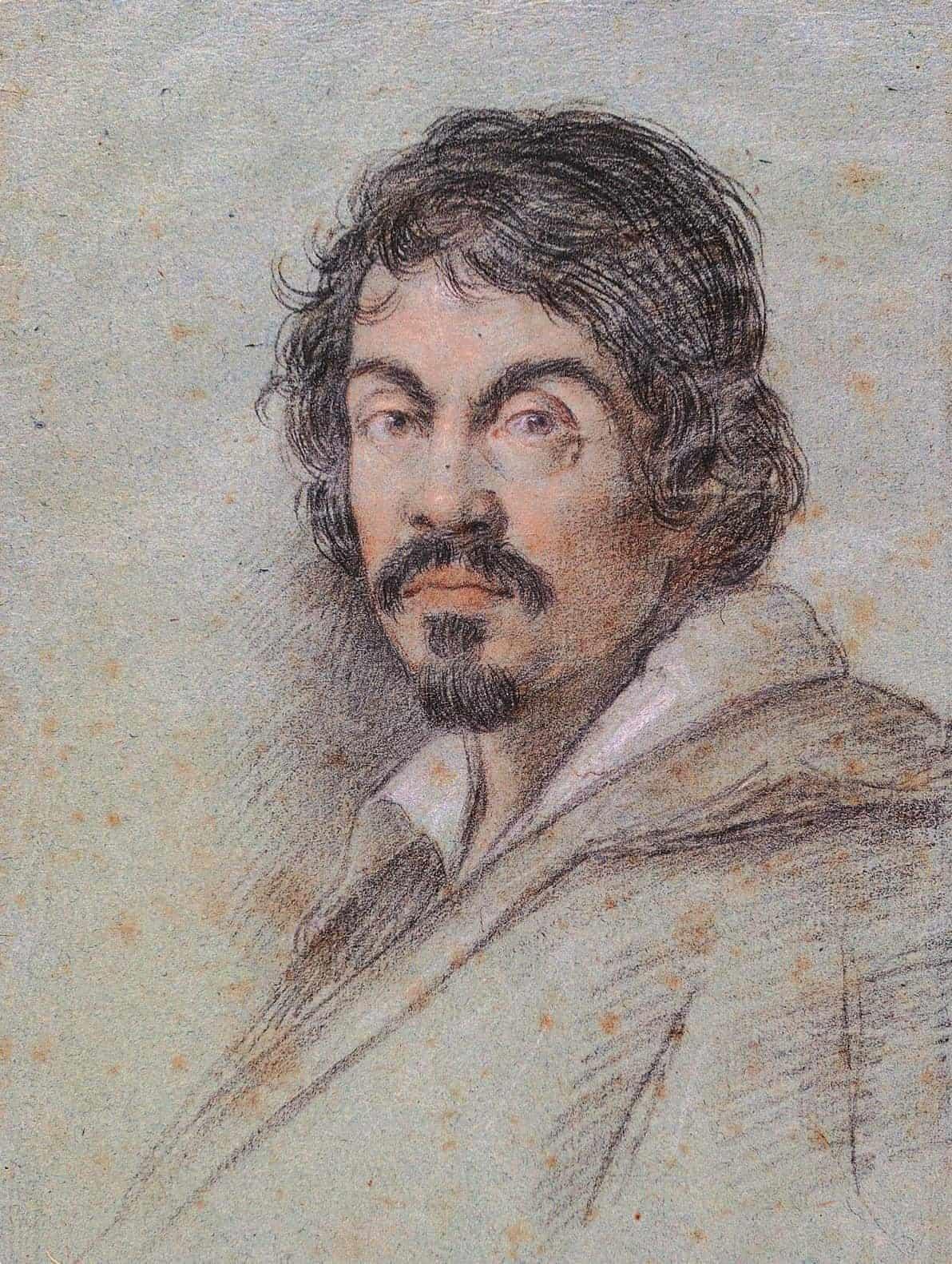 Portrait of Caravaggio by Ottavio Leoni
