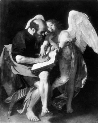 The Inspiration of Saint Matthew first version