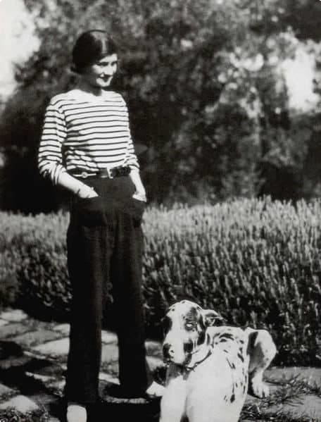 A photograph of Coco Chanel