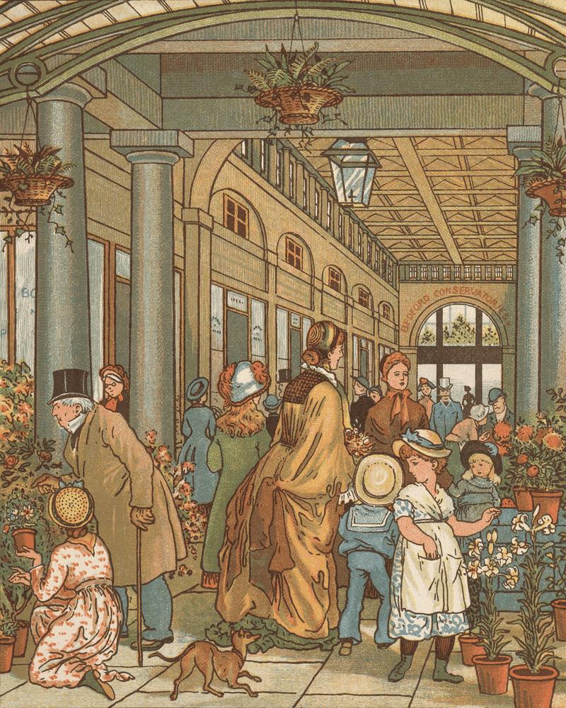 Convent Garden flower hall