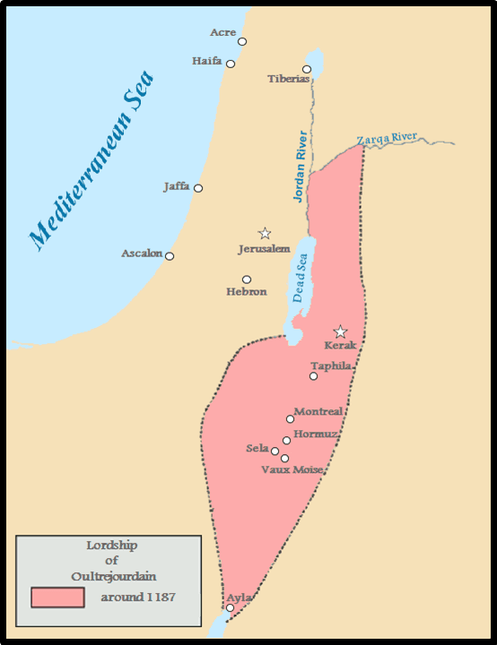 Map of Oultrejordain
