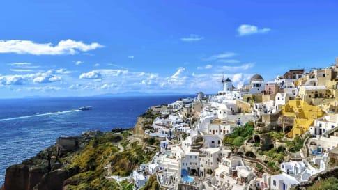 history of Santorini
