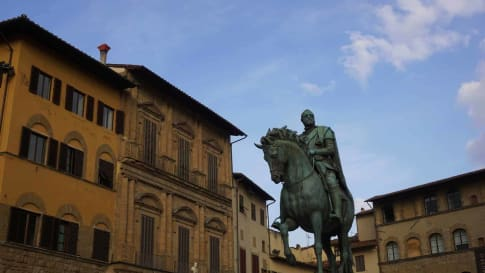 Statue of Cosimo I of Medici, in front of Palazzo Vecchio, Florence