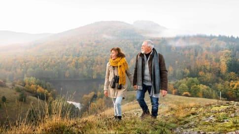 Couple Walking Odyssey Traveller