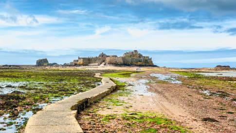 Elizabeth Castle, Saint Helier, Jersey, Channel Islands, UK.