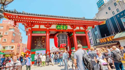 Senso-ji Temple in Asakusa area, Tokyo