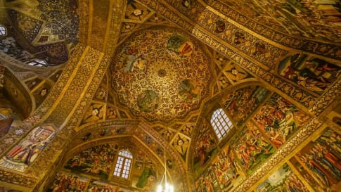 Inside the Vank Cathedral, Isfahan, Iran
