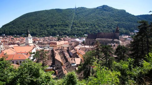 Brasov Romania with Mount Tampa