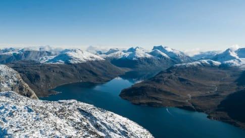 Nuup Kangerlua fjord in Greenland