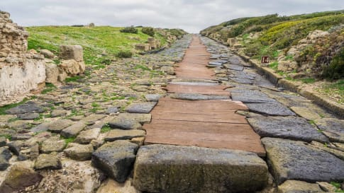 A well preserved Roman road.