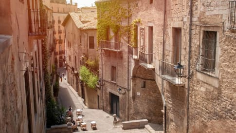 The streets of Girona