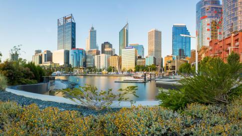 Cityscape of Perth WA