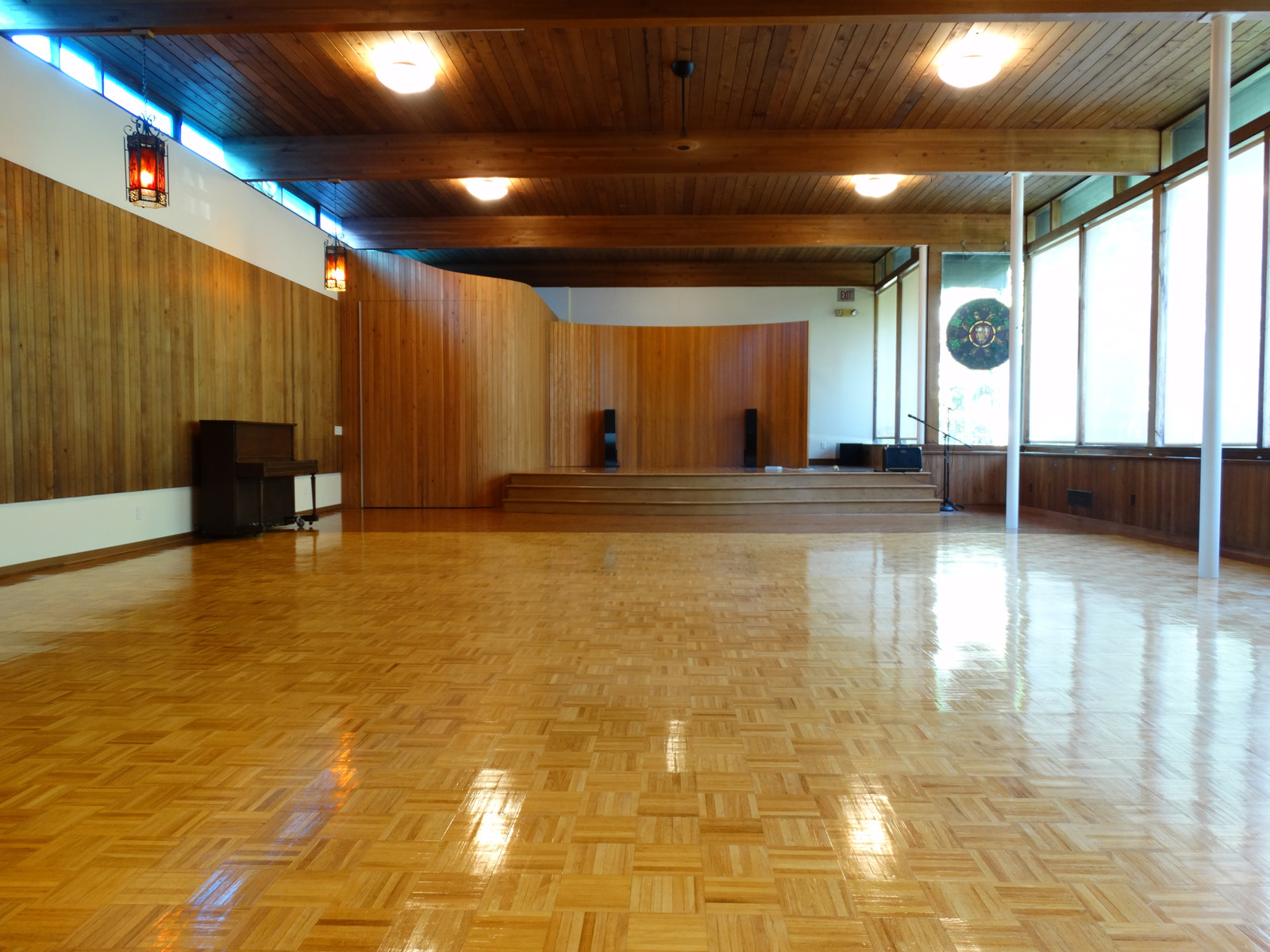 mid-century modern event hall
