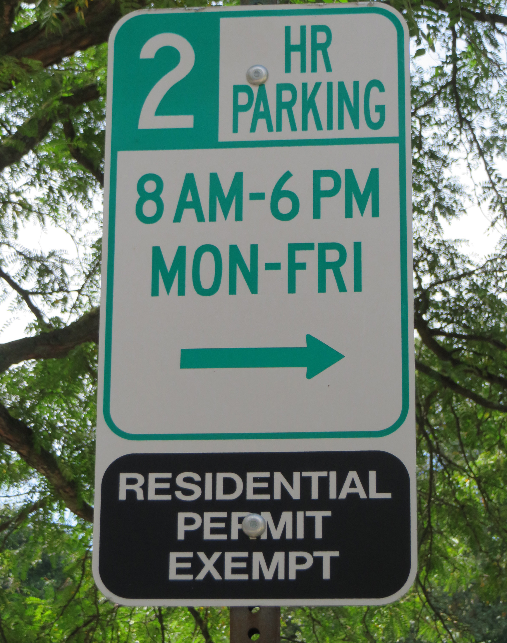 parking sign on Berkshire road