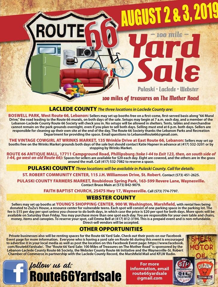 100-Mile Route 66 Yard Sale