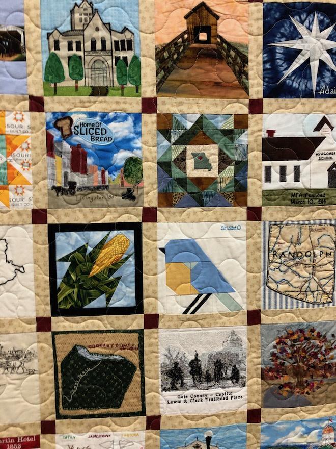 Bicentennial Quilt Section