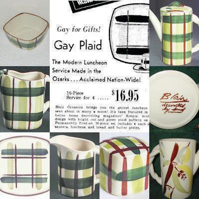 Gay Plaid Ad 1950's